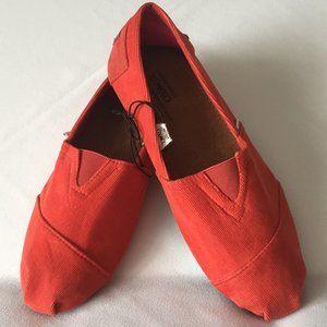 XOXO Red Corduroy Flat Slip on Shoes Size 8 (US)